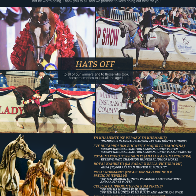 Celebrating an amazing 2018 United States National Champoionship Show