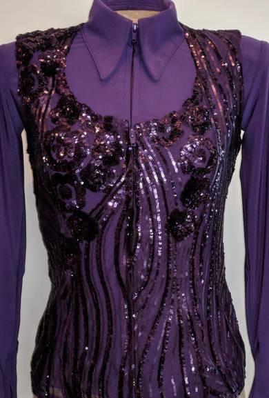 Dark Purple Lace Vest Show Diva Designs