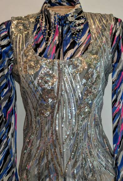 Silver Lace Vest