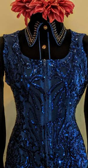 Royal Blue Lace Vest
