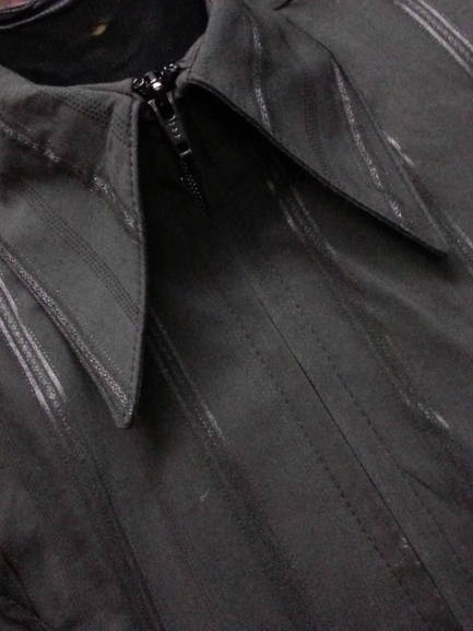 Black Pinstripe Plain Fitted Shirt
