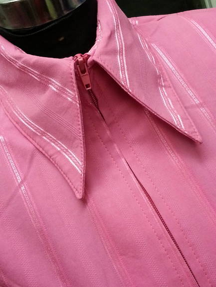 Pink Pinstripe Plain Fitted Shirt