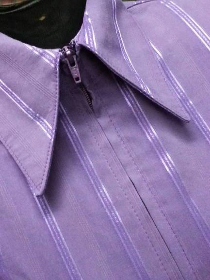 Purple Pinstripe Plain Fitted Shirt