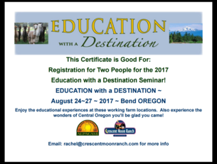 Education with a Destination