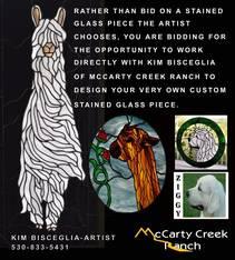 CUSTOM STAINED GLASS BY KIM BISCEGLIA