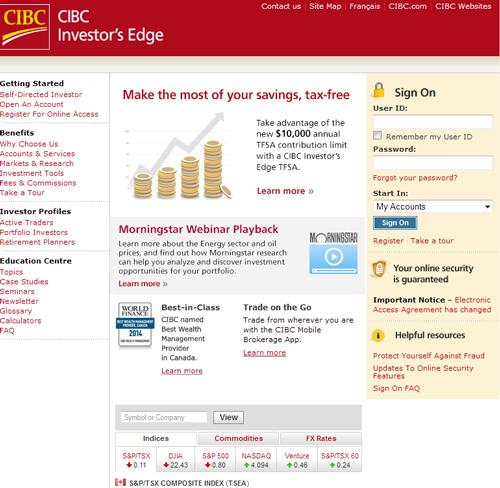 Cibc retirement portal website year