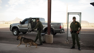 Border Patrol Checkpoint on Hwy 118, south of Alpine, Tex.