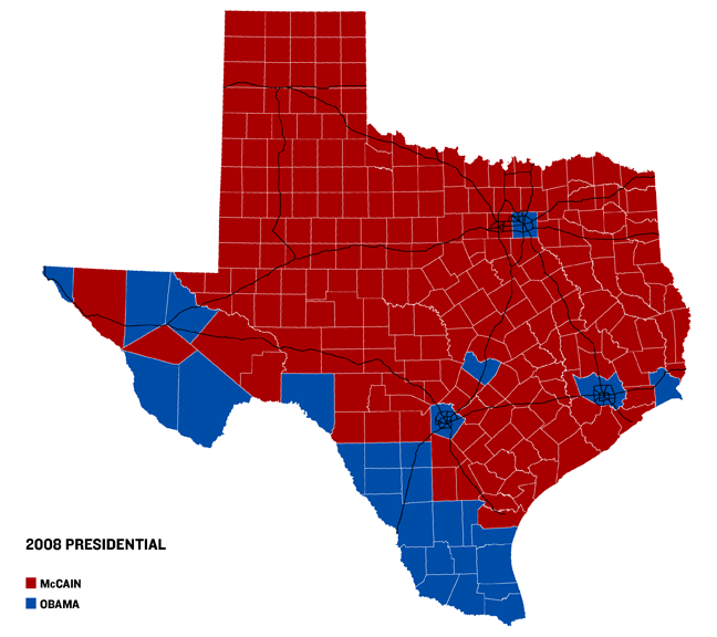 Texas voting map