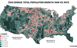 3D Map: Population Change By U.S. Counties