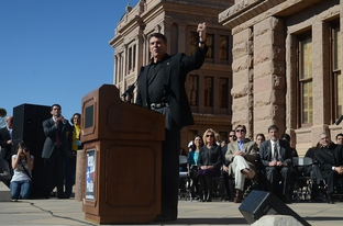 Gov. Rick Perry as the keynote speaker at The Annual Texas Rally for Life at the Capitol on  January 22, 2011.