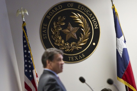 Gov. Perry speaks at Texas State Board of Education meeting on February 1st, 2013