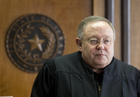 Judge John Dietz in his courtroom before he ruled that school finance system unconstitutional on February 4th, 2013