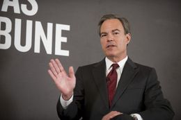 House Speaker Joe Straus answers an audience question at TribLive on Feb. 6, 2013.