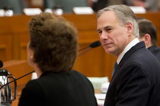 Texas Attorney General Greg Abbott, during a Senate Finance committee hearing on Feb. 5, 2013