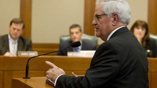 Rep. Jimmie Don Aycock R-Killeen gives testimony during a public education committee hearing on February 19th, 2013.
