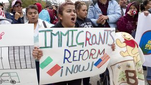 An immigration reform rally at the Texas Capitol on Feb. 22, 2013.