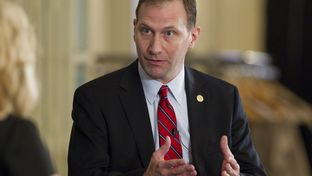 Sen. Charles Schwertner R-Georgetown speaks about health care in Texas at February 27th TribLive
