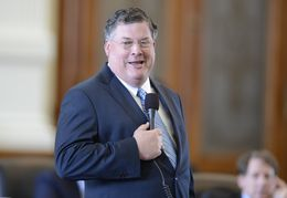 Sen. Tommy Williams, R-The Woodlands, answers questions on SB 1 the state budget during debate on March 20, 2013.