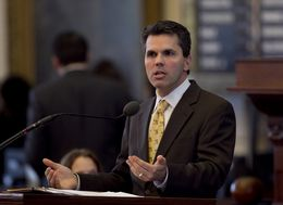 Rep. Mark Strama D-Austin, speaks during HB5 debate on March 26th, 2013. There are currently 165 amendments to the bill and the debate is expected to go well into the night.