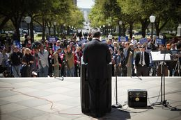 Gov. Perry at Faith and Family Rally in 2013.
