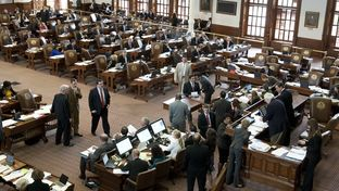The crowded House floor during debate on SB 1 April 4, 2013.