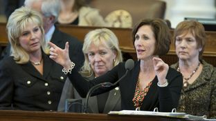 State Rep. Lois Kolkhorst, R-Brenham, explains Medicaid reimbursements on the House floor on April 4, 2013.