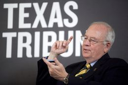 Evan Smith speaks with Ken Starr, President of Baylor University, at a TribLive event on April 29, 2013.