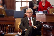 Rep. Jimmie Don Aycock, R-Killeen listens to HB5 debate in House on March 26th, 2013. There are currently 165 amendments to the bill and debate is expected to go well into the night