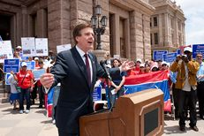 State Sen. Dan Patrick, R-Houston, spoke Wednesday as Texas charter school supporters rallied at the Texas Capitol to lobby the Legislature for more funding.