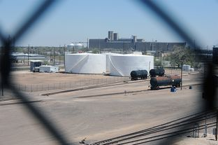 The Gavilon facility in Amarillo sits near residences. Officials say that the ammonium nitrate on site is stored safely, so that it cannot explode.