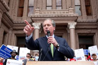 Lt. Gov. David Dewhurst at a charter school rally.