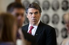 Gov. Rick Perry at the Capitol in May 2013.