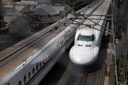 The JR Central N700 Series is a Japanese Shinkansen bullet train developed by two railway companies in Japan. One of those companies, JR Central, is the lead investor in a firm developing a high-speed rail line between Houston and Dallas-Fort Worth that would use the same type of trains.