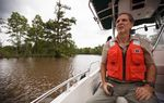 Professor Kirk Winemiller of the Texas A&M Department of Wildlife and Fisheries, on a bayou along the Neches River near Beaumont, Texas Friday, May 30, 2013.