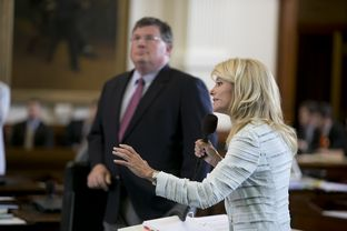 State Sen. Wendy Davis, D-Fort Worth, during her filibuster on June 25, 2013.