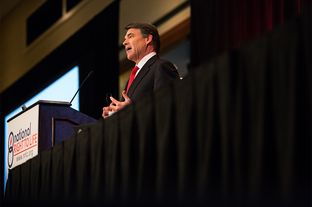 Gov. Rick Perry addresses the National Right to Life convention.