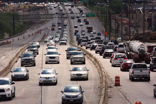 A look at traffic on Interstate 30 near downtown Fort Worth in 2013.