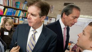 Lt. Governor David Dewhurst and Sen. Dan Patrick R-Houston, during a December 2012 press conference to discuss education reform in Texas.