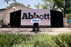 Greg Abbott announces his run for governor at the La Villita Historic Arts District in downtown San Antonio on July 14, 2013.