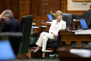 Texas Senator Wendy Davis, D-Fort Worth, in the Senate chamber on May 29, 2011 where her one hour filibuster killed SB1811 for the regular session and prompted a special session.