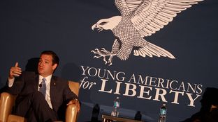 Sen. Ted Cruz, R-Texas, speaking at the 2013 Young Americans for Liberty National Convention at George Mason University in Arlington, Va., on July 31, 2013.