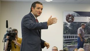 U.S. Sen. Ted Cruz speaks at National Instruments in Austin on Aug. 22, 2013.