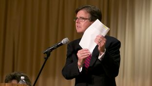 Sen. Dan Patrick R-Houston gives opening remarks during CSCOPE debate on August 24th, 2013
