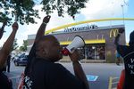 Texas fast-food workers are planning to join a nationwide strike on Thursday to call for $15-an-hour wages. Recently, there have been similar strikes in cities across the country. This one was in Milwaukee.