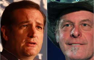 U.S. Senator Ted Cruz and rock musician Ted Nugent.