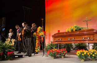 "Mariachi Estrella performs during ""A Service for Remembrance,"" at the National Funeral Directors Association convention on Oct. 22, 2013, in Austin. The service honored deceased funeral directors and highlighted Mexican funeral traditions."