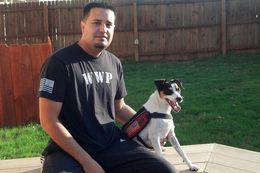 Adan Gallegos relies on his service dog, Bootz, to cope with the effects of war. The duo helped to inspire legislation that come Jan. 1 will have state law more closely mirror federal ADA guidelines.