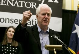Sen. John Cornyn at his reelection campaign kickoff in Austin, Texas on November 15th, 2013