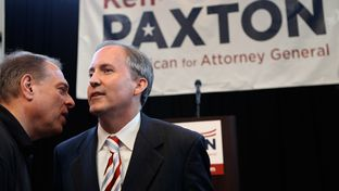 Senator Ken Paxton listens to a supporter following his announcement to run for Attorney General on Thursday, August 1, 2013.