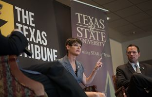 At The Texas Tribune's Hot Seat conversation on December 3, 2013 at Texas State University, state Sen. Donna Campbell, R-New Braunfels, and state Rep. Jason Isaac, R-Dripping Springs, talked about water, transportation, public education and other issues in play in the 83rd session.
